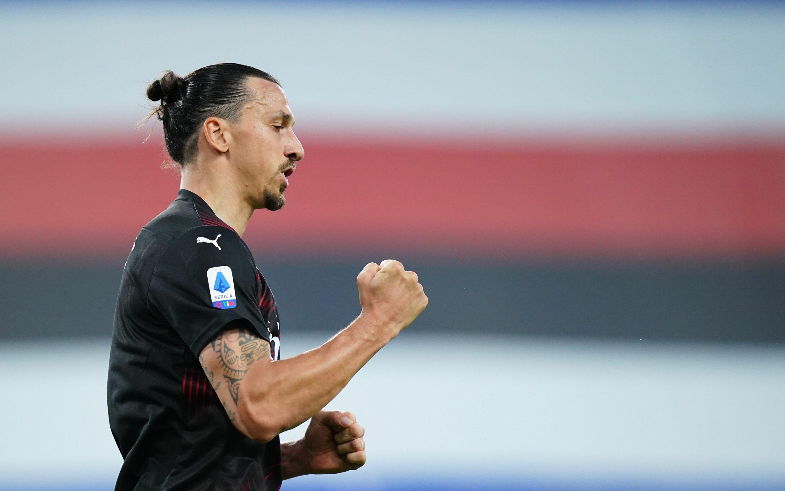 Zlatan Ibrahimovic celebra un gol   Europa Press