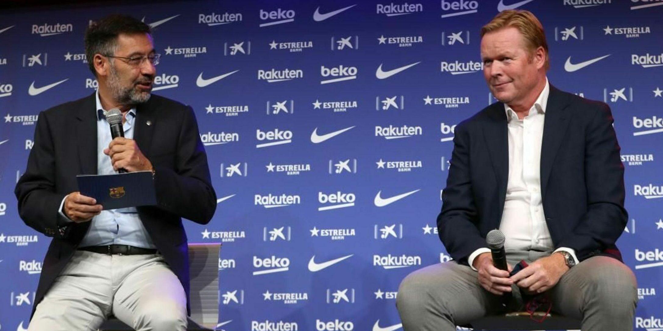 Bartomeu i Koeman, durant la presentació de l'holandès | FC Barcelona