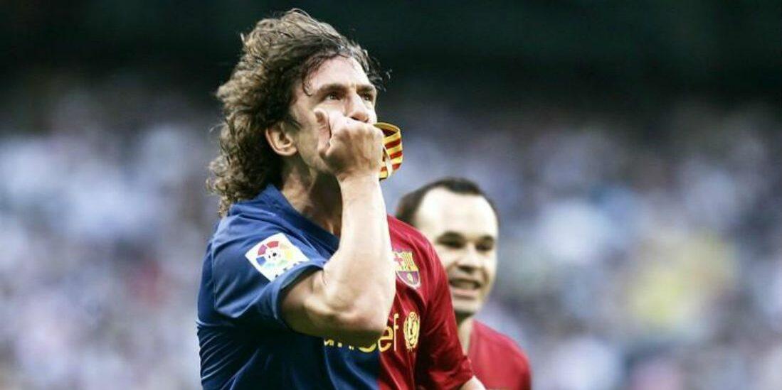 Carles Puyol celebra el seu gol al Santiago Bernabéu | FC Barcelona