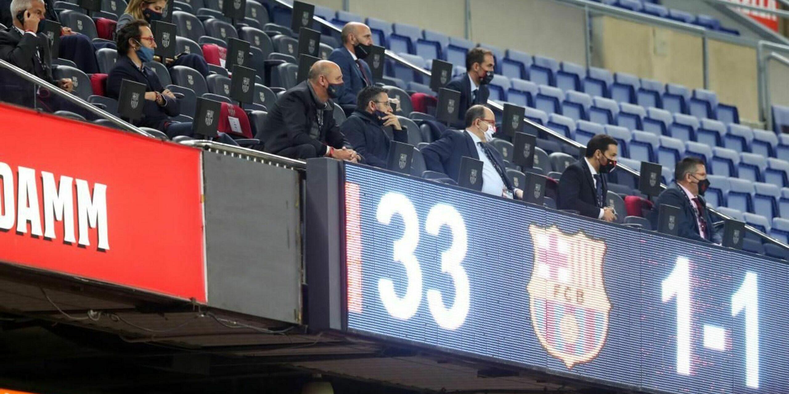 Bartomeu, durant un partit del Barça al Camp Nou | FC Barcelona