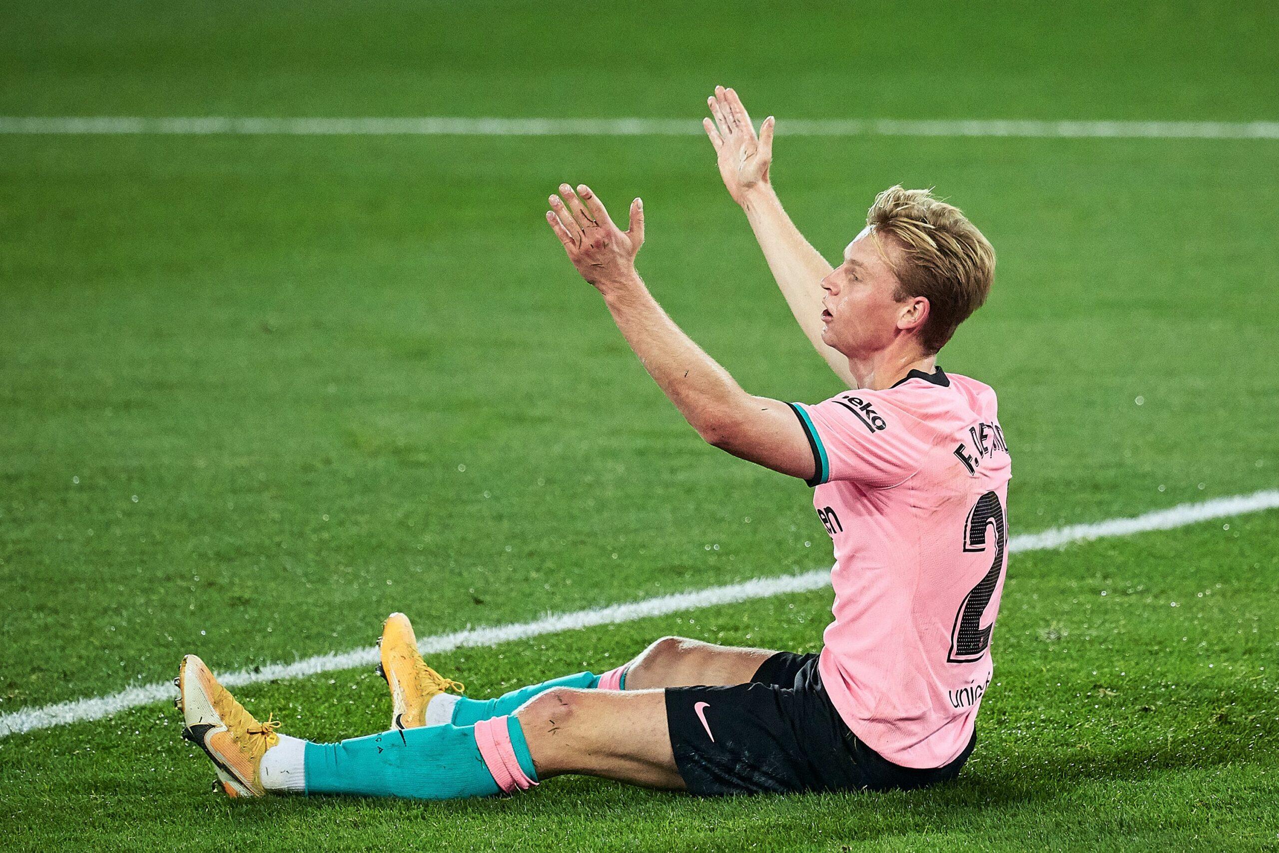 De Jong, durant el partit contra l'Alabès | Europa Press