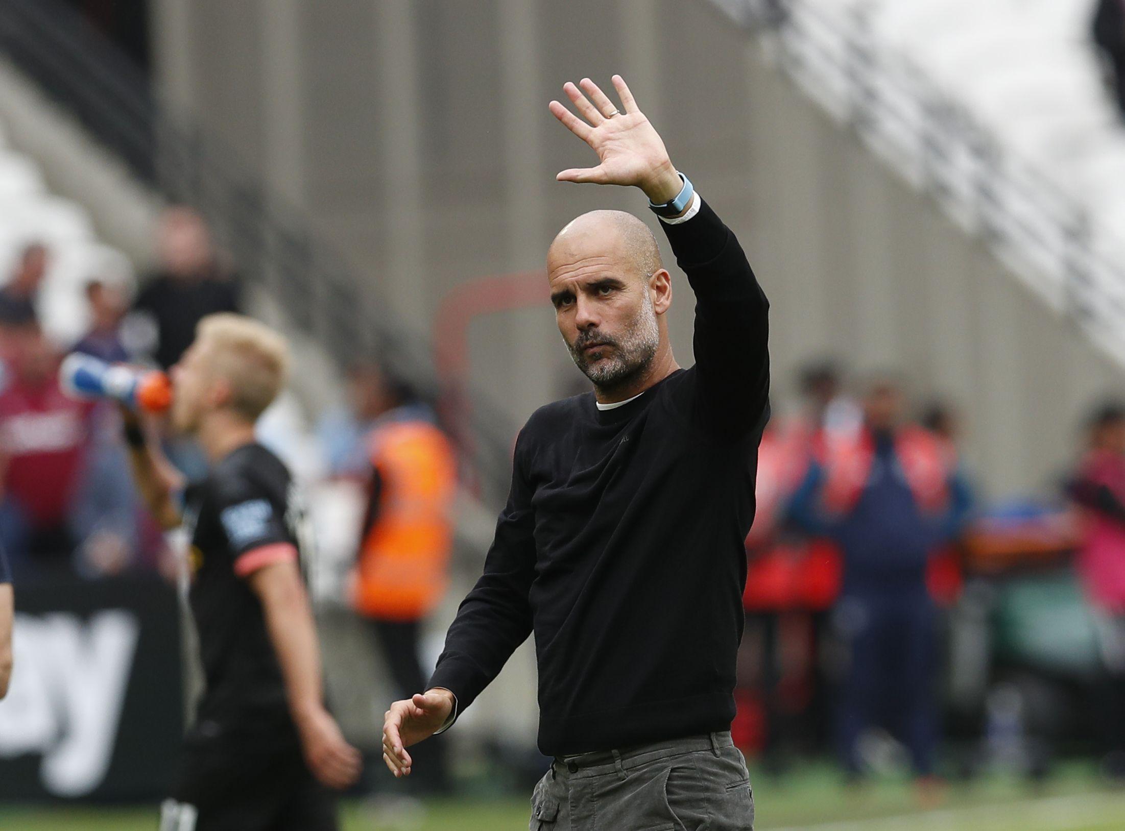 Guardiola, durant un partit del Manchester City   Europa Press