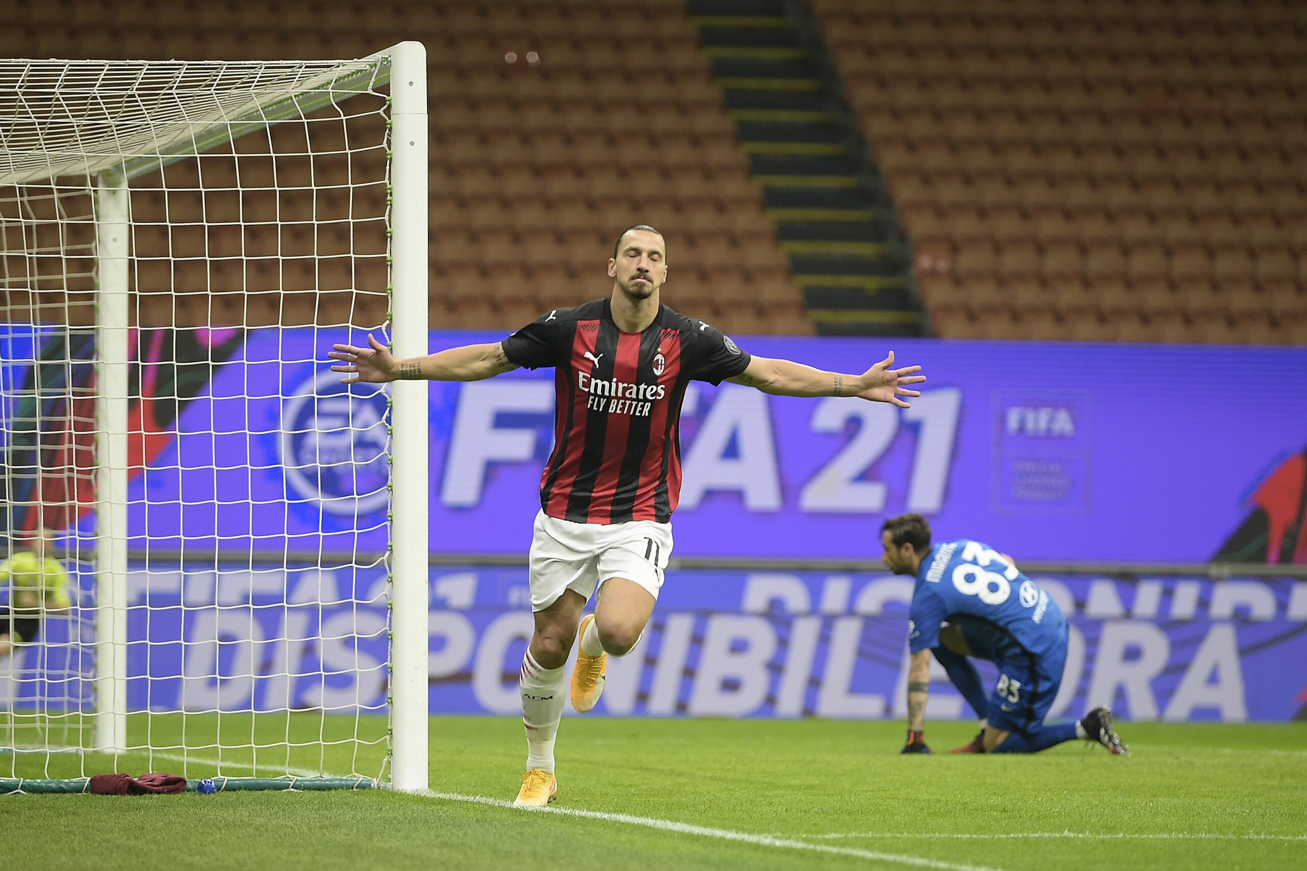 Ibrahimovic celebra un gol   Europa Press