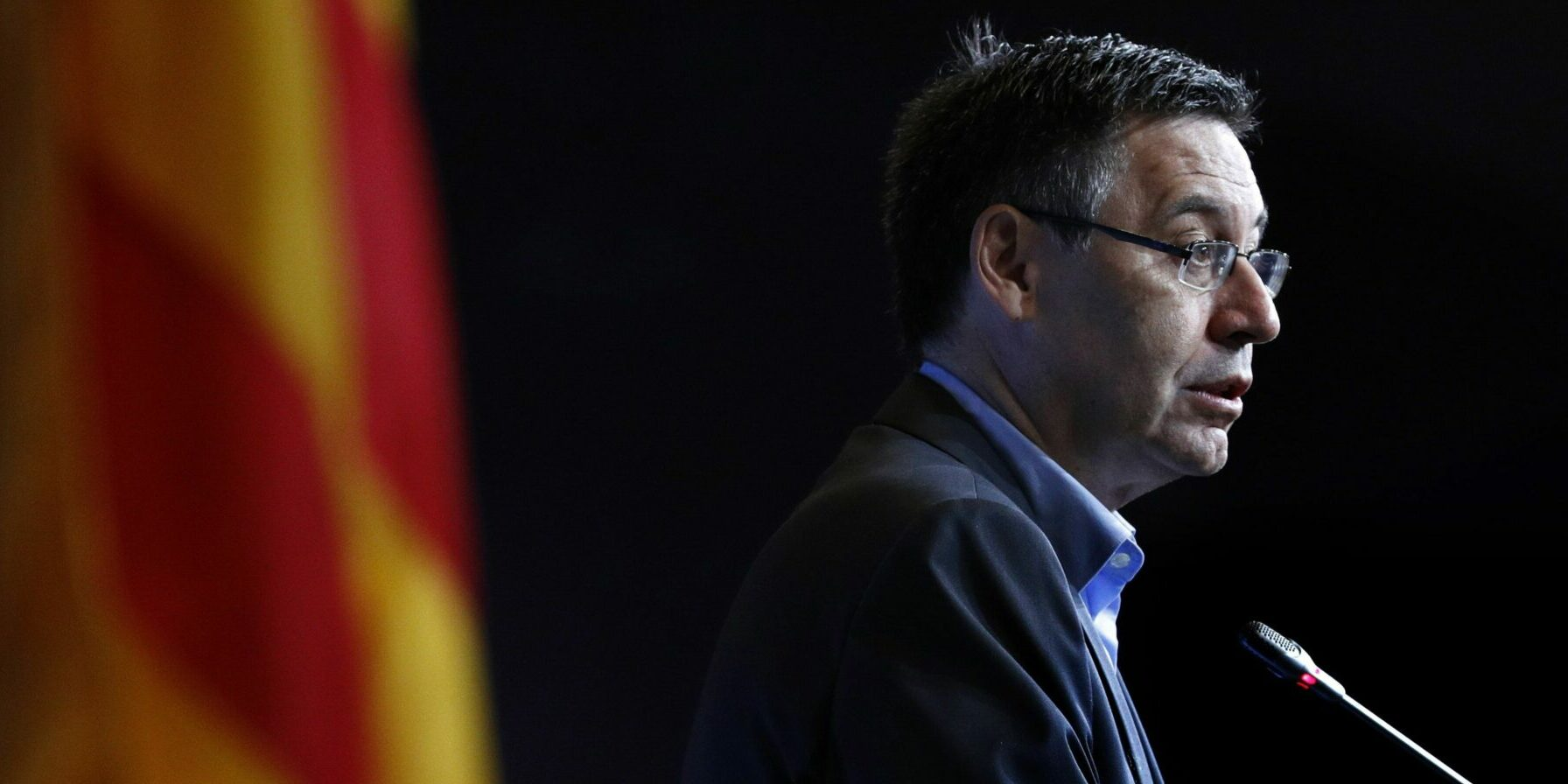 Josep Maria Bartomeu, durant una compareixença | EFE