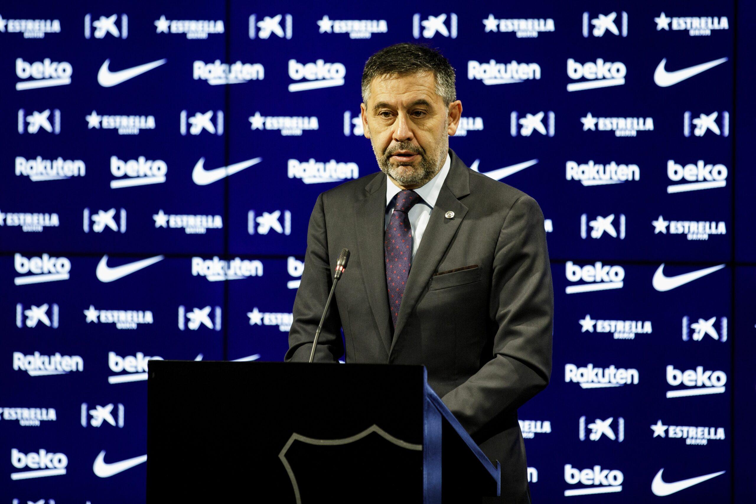 Josep Maria Bartomeu, durant una compareixença davant els mitjans de comunicació |FC Barcelona