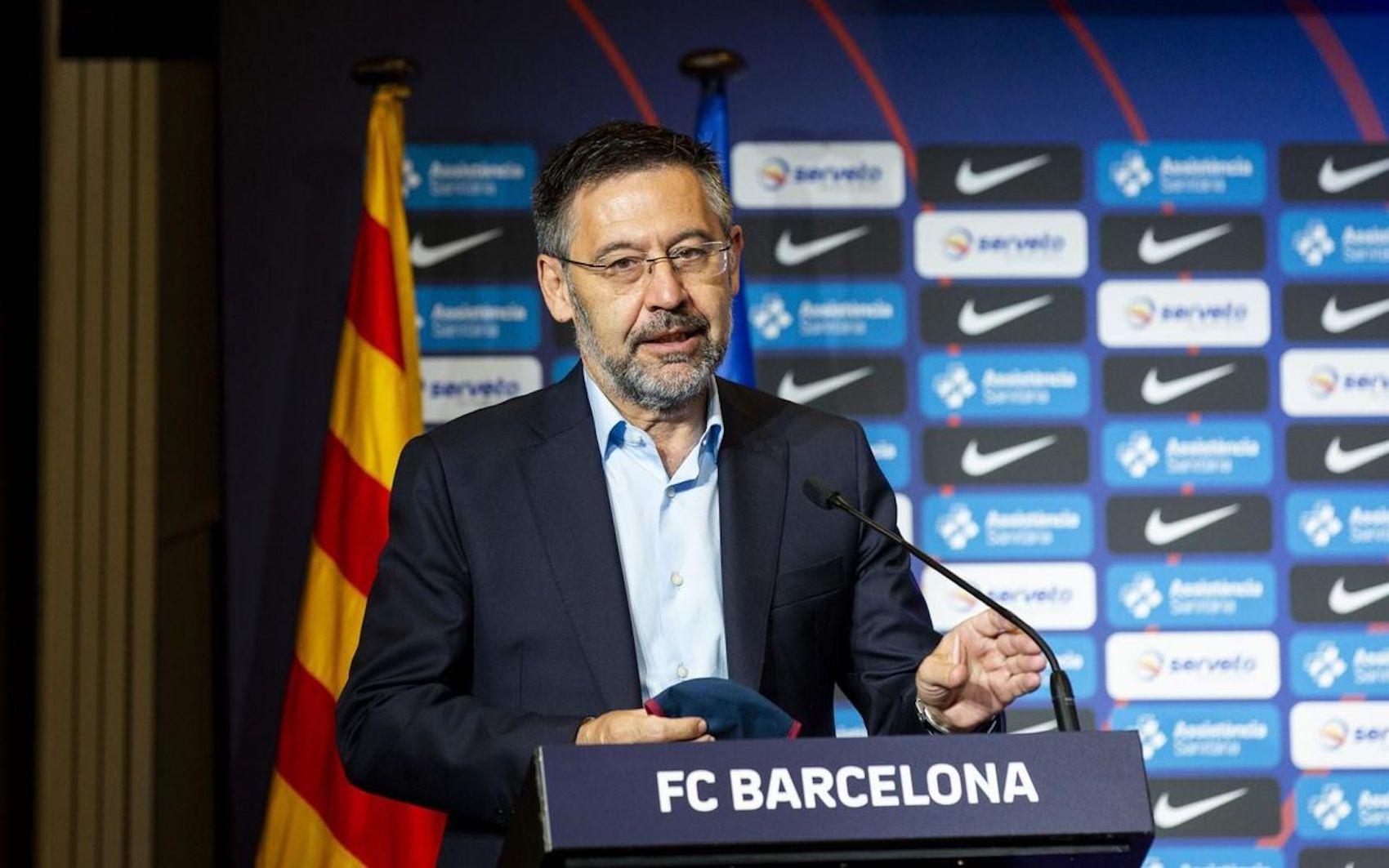 Josep Maria Bartomeu, durant una roda de premsa  FC Barcelona