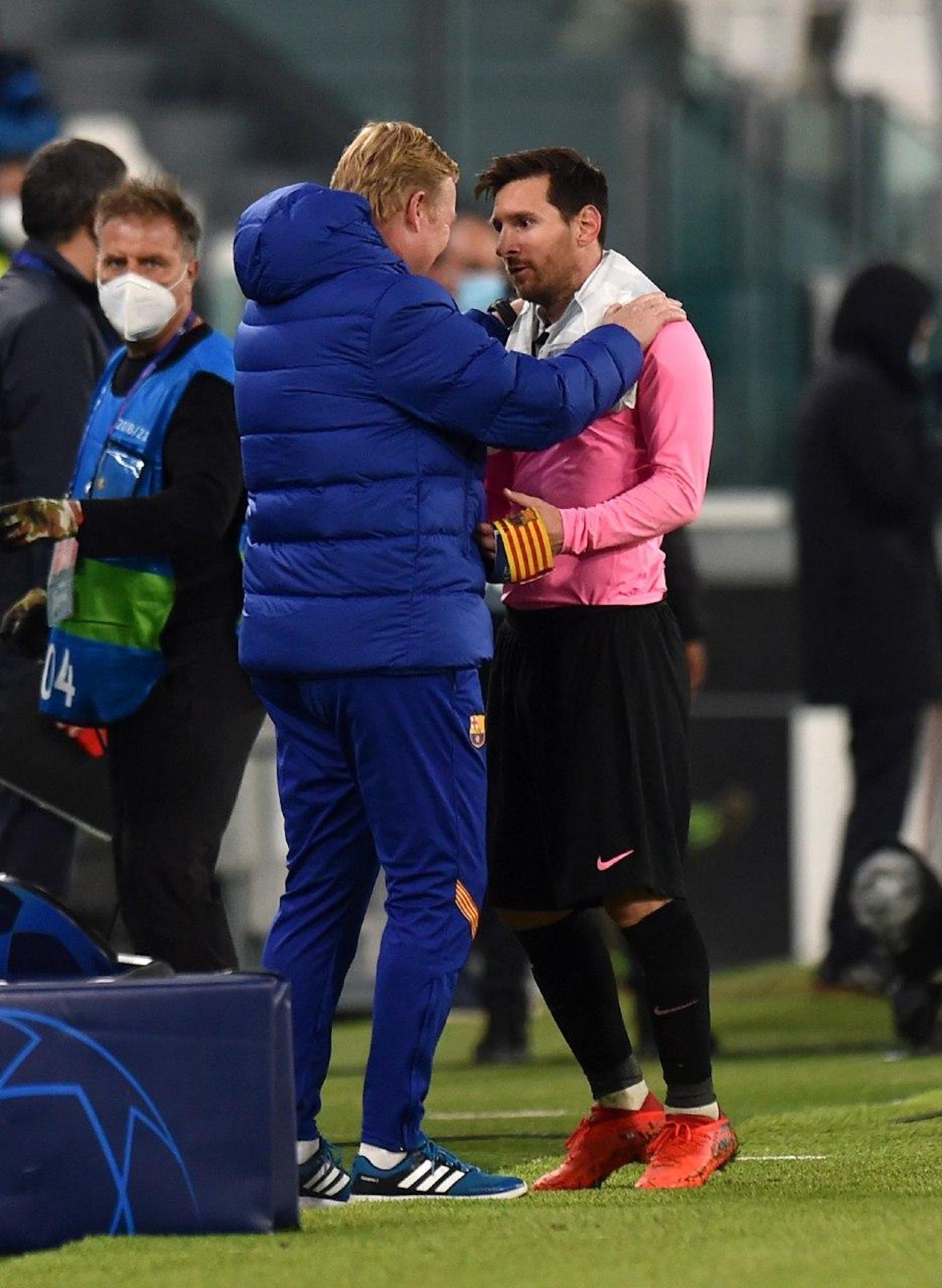 Koeman i Messi, després de la victòria del Barça a Torí | FC Barcelona