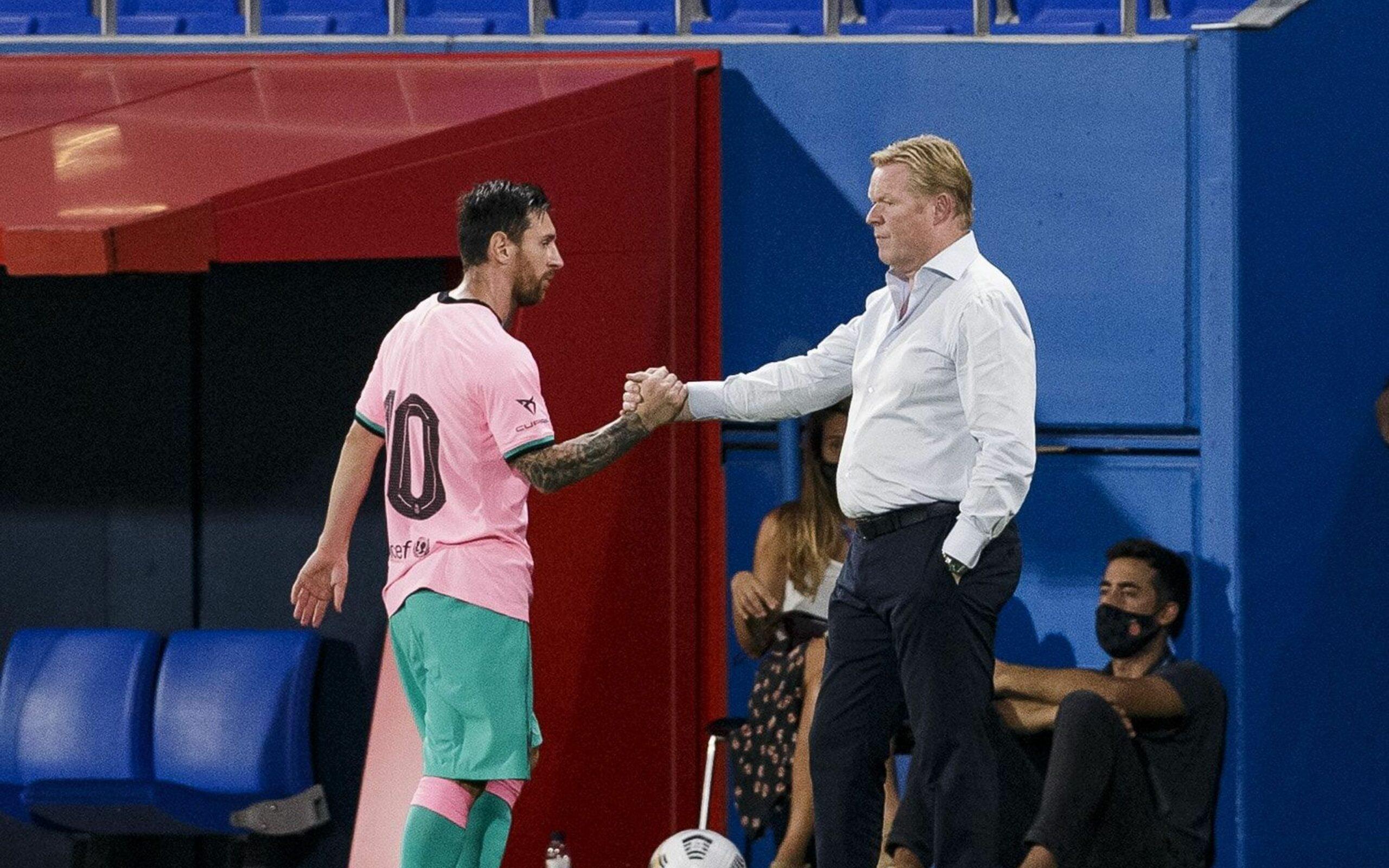 Koeman i Messi, durant un partit | FC Barcelona