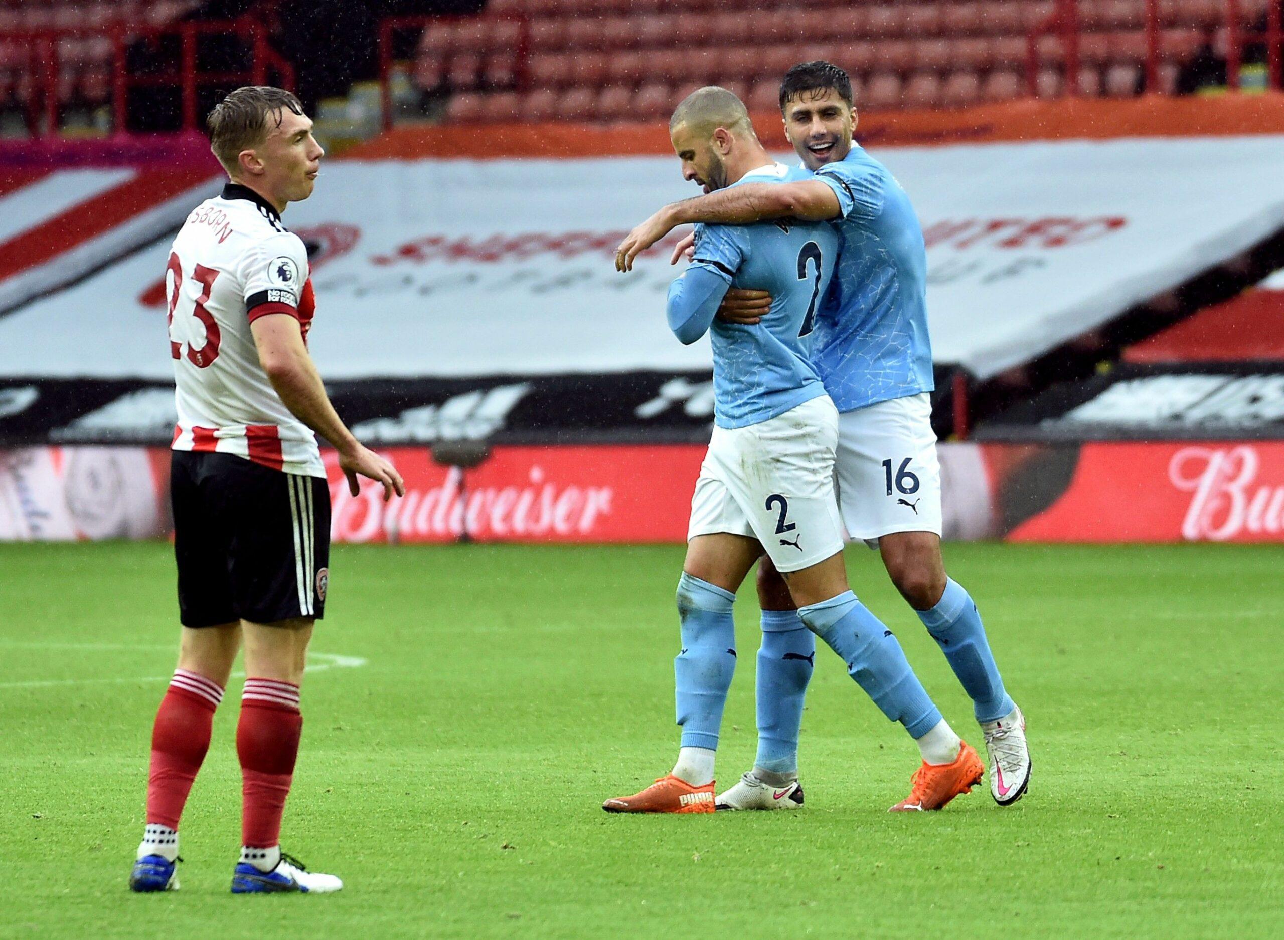 Kyle Walker celebra el seu gol | Europa Press