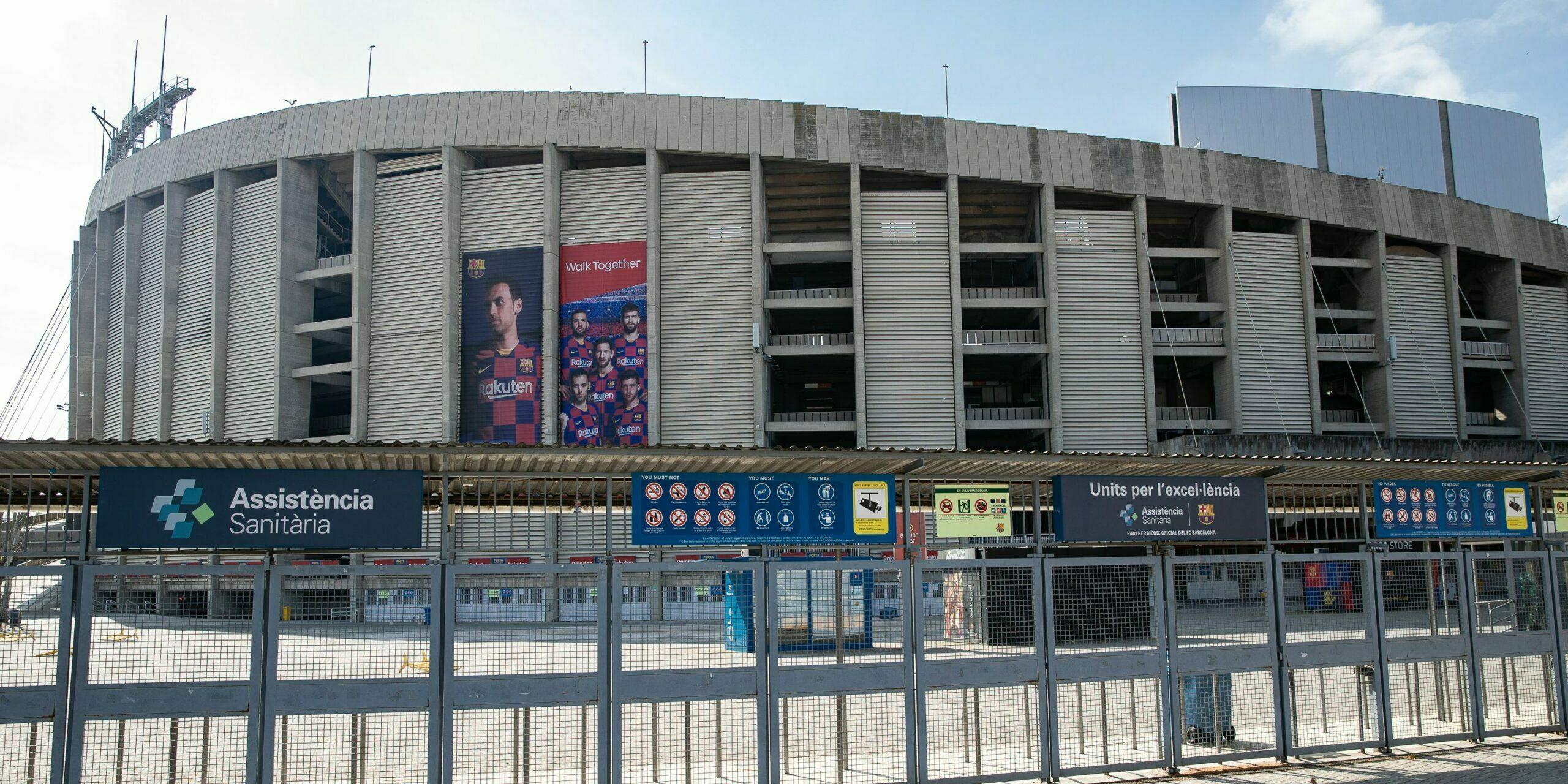 El Camp Nou, tancat pel coronavirus | Europa Press