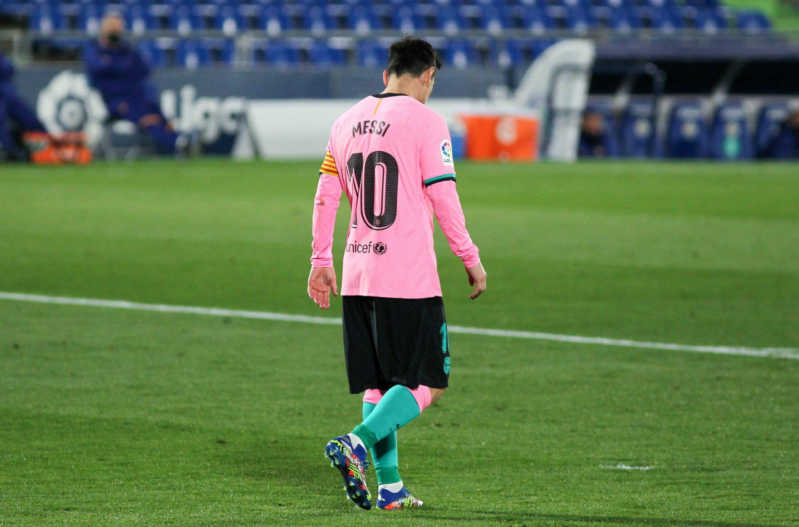 Leo Messi, durant un partit com a visitant del Barça  Europa Press