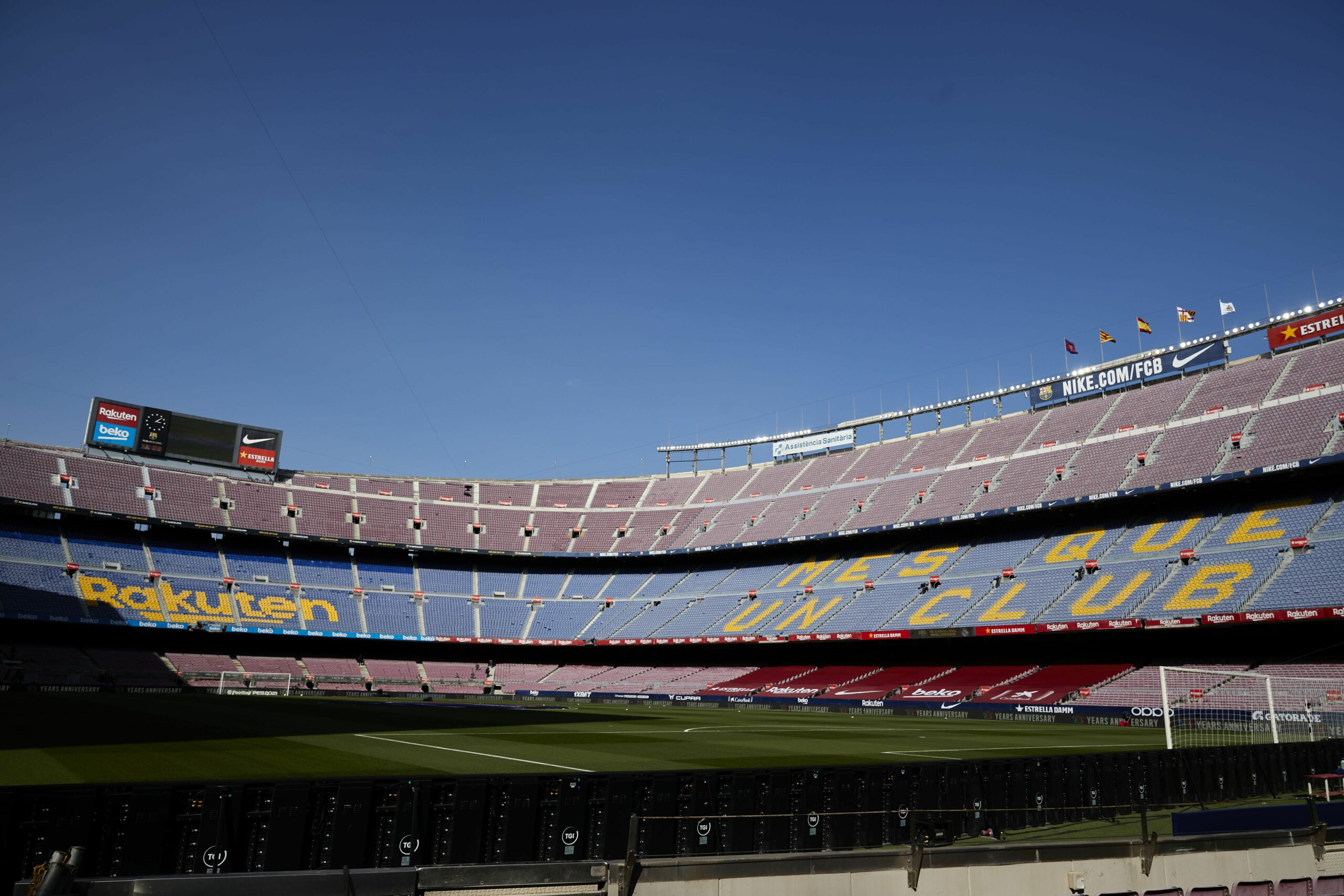 El Camp Nou, abans del clàssic  Europa Press
