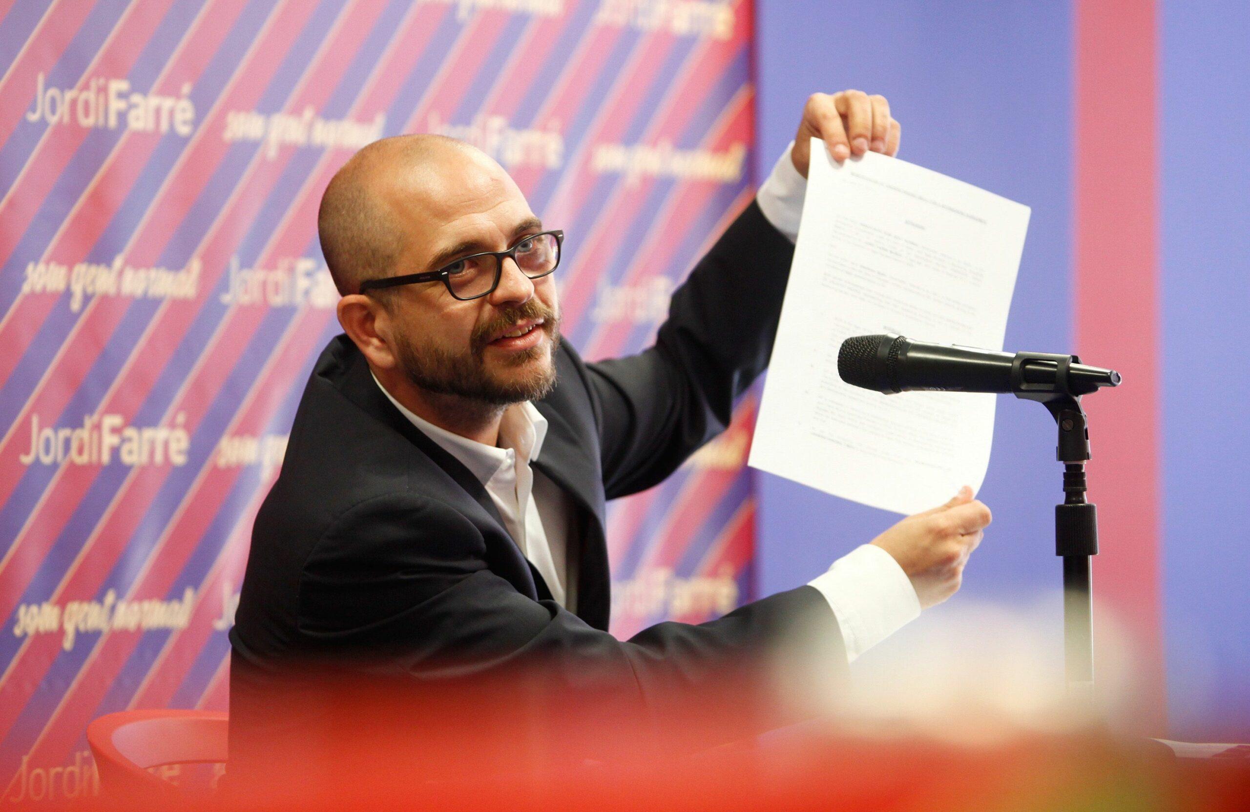 Jordi Farré, impulsor del vot de censura contra Bartomeu | Europa Press