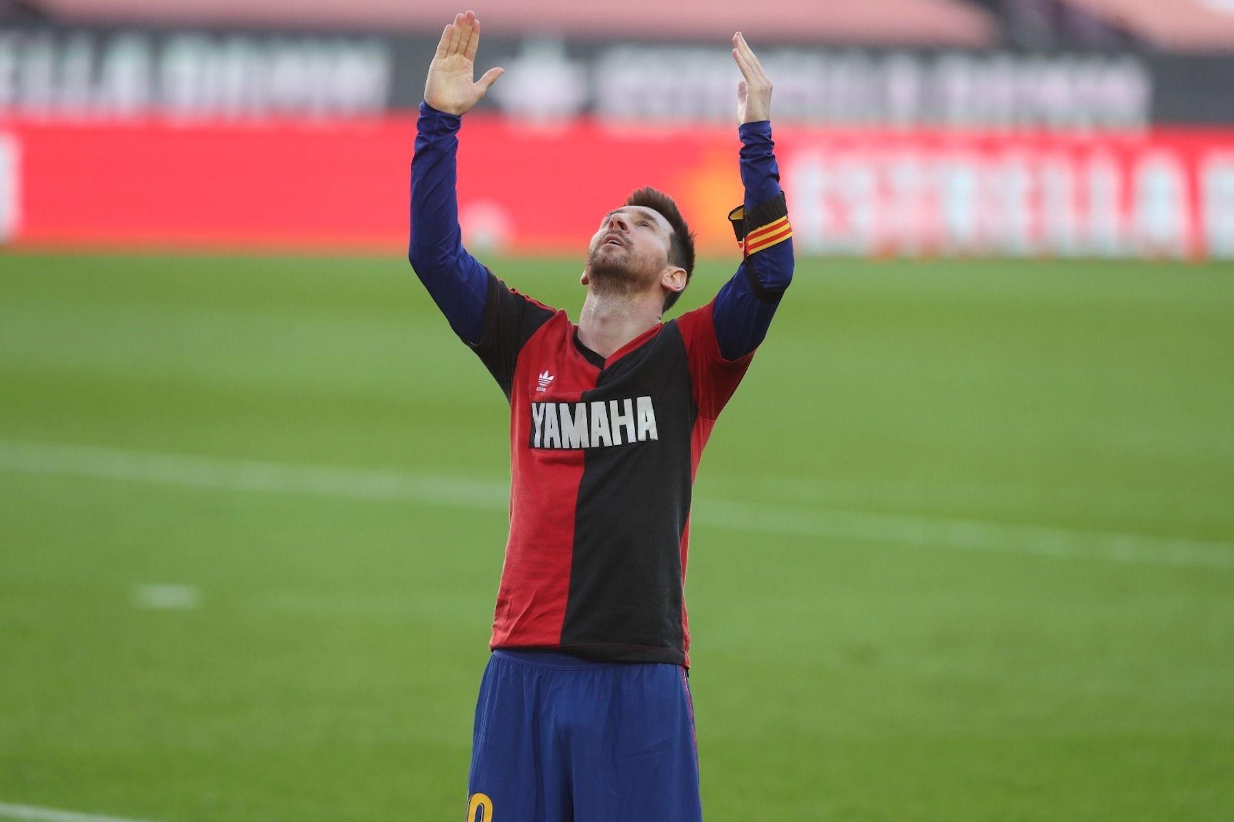 Messi homenatja Maradona durant el partit del Barça contra l'Osasuna | FC Barcelona