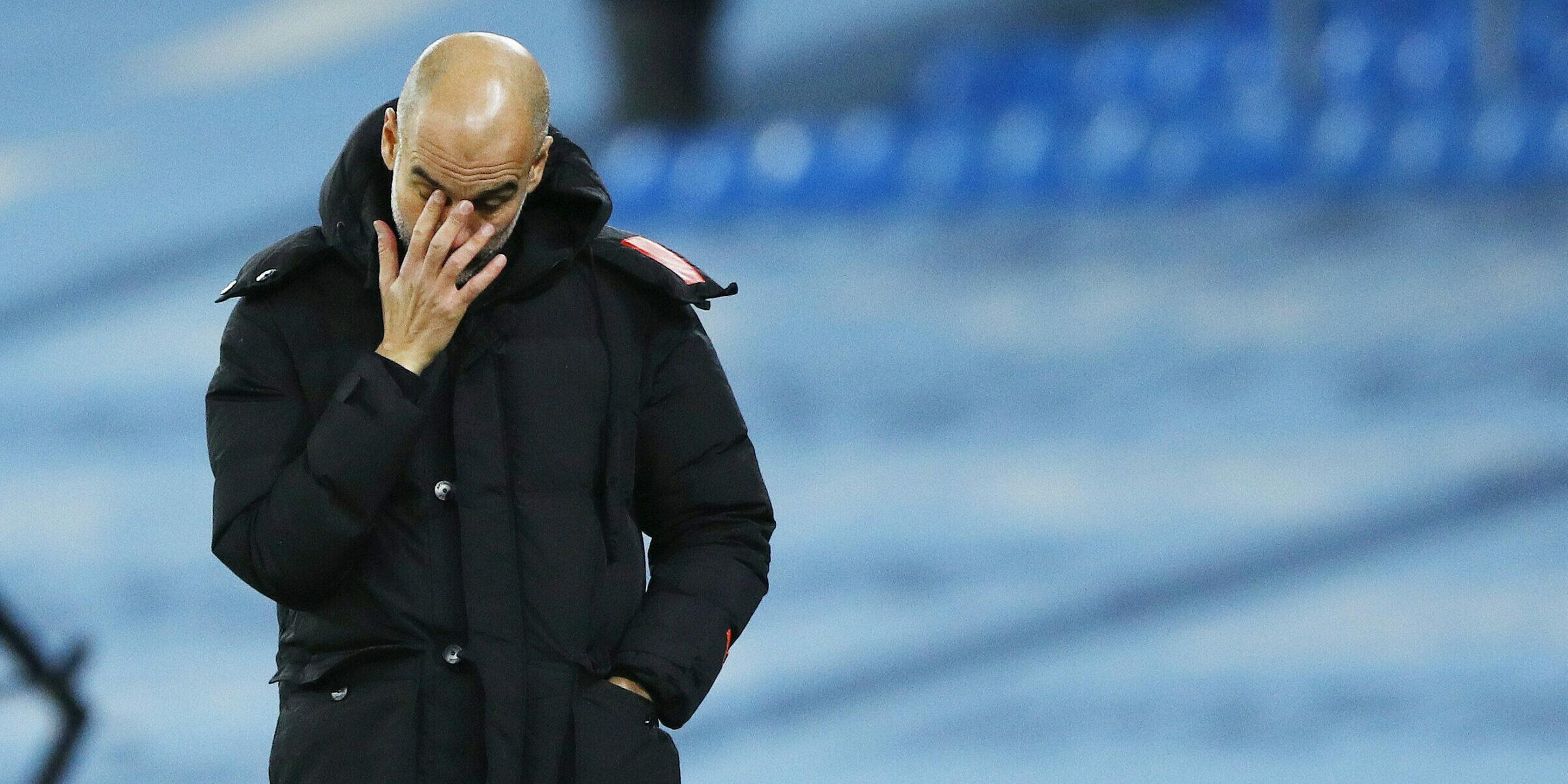 Pep Guardiola, durant un partit del City   Europa Press