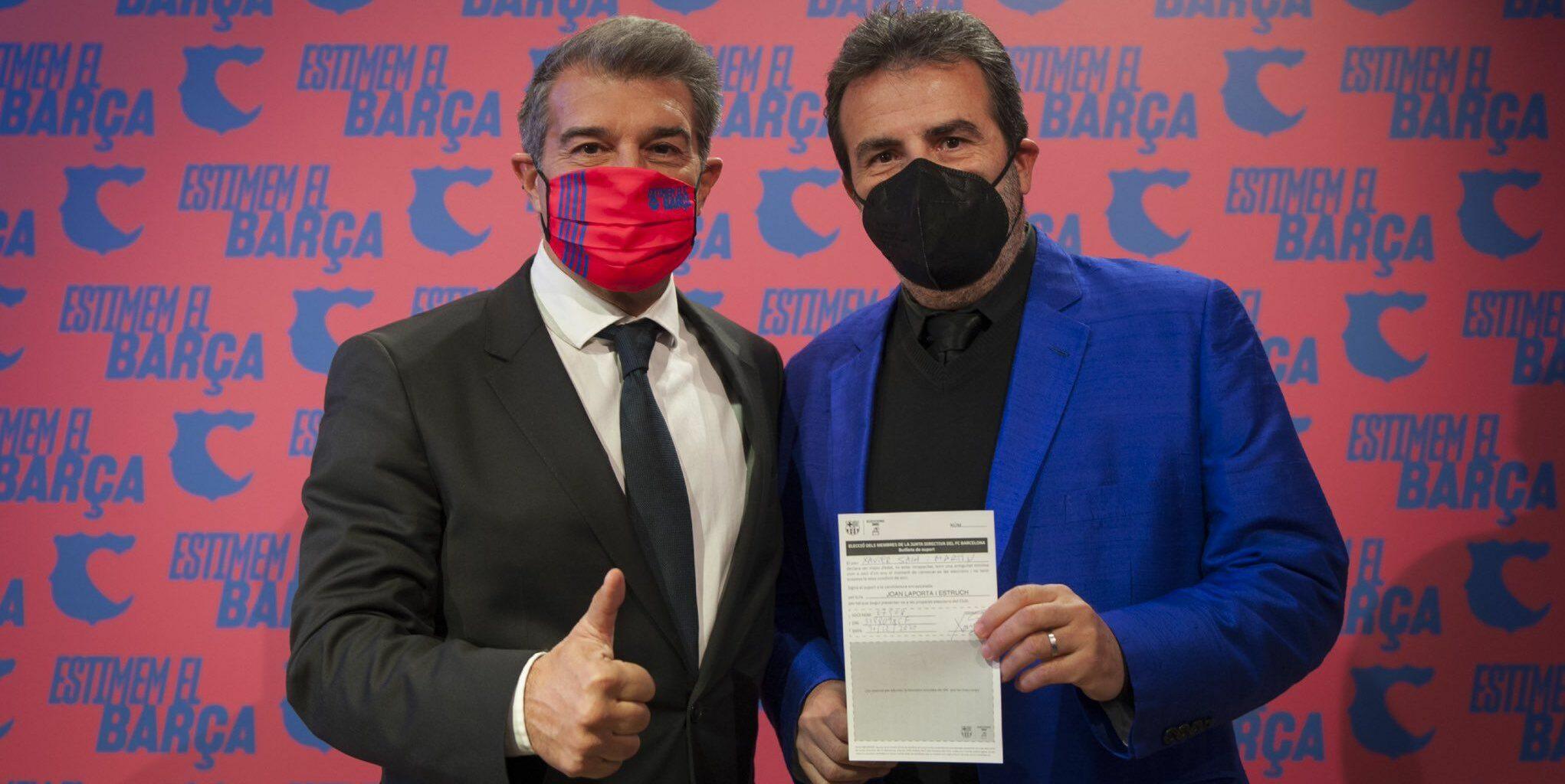 Laporta i Sala-i-Martin, amb una papereta | @JoanLaportaFCB