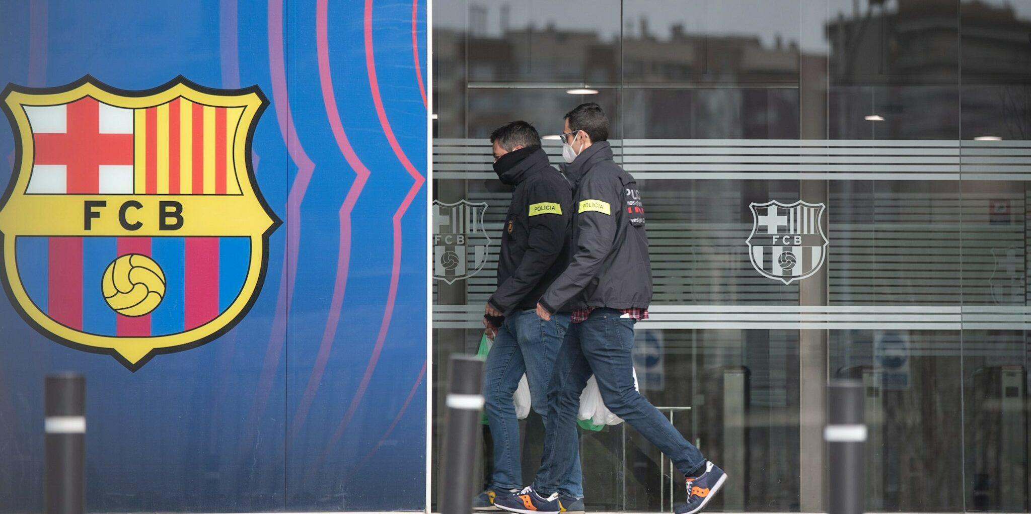 Els Mossos d'Esquadra, a les oficines del Camp Nou | Europa Press
