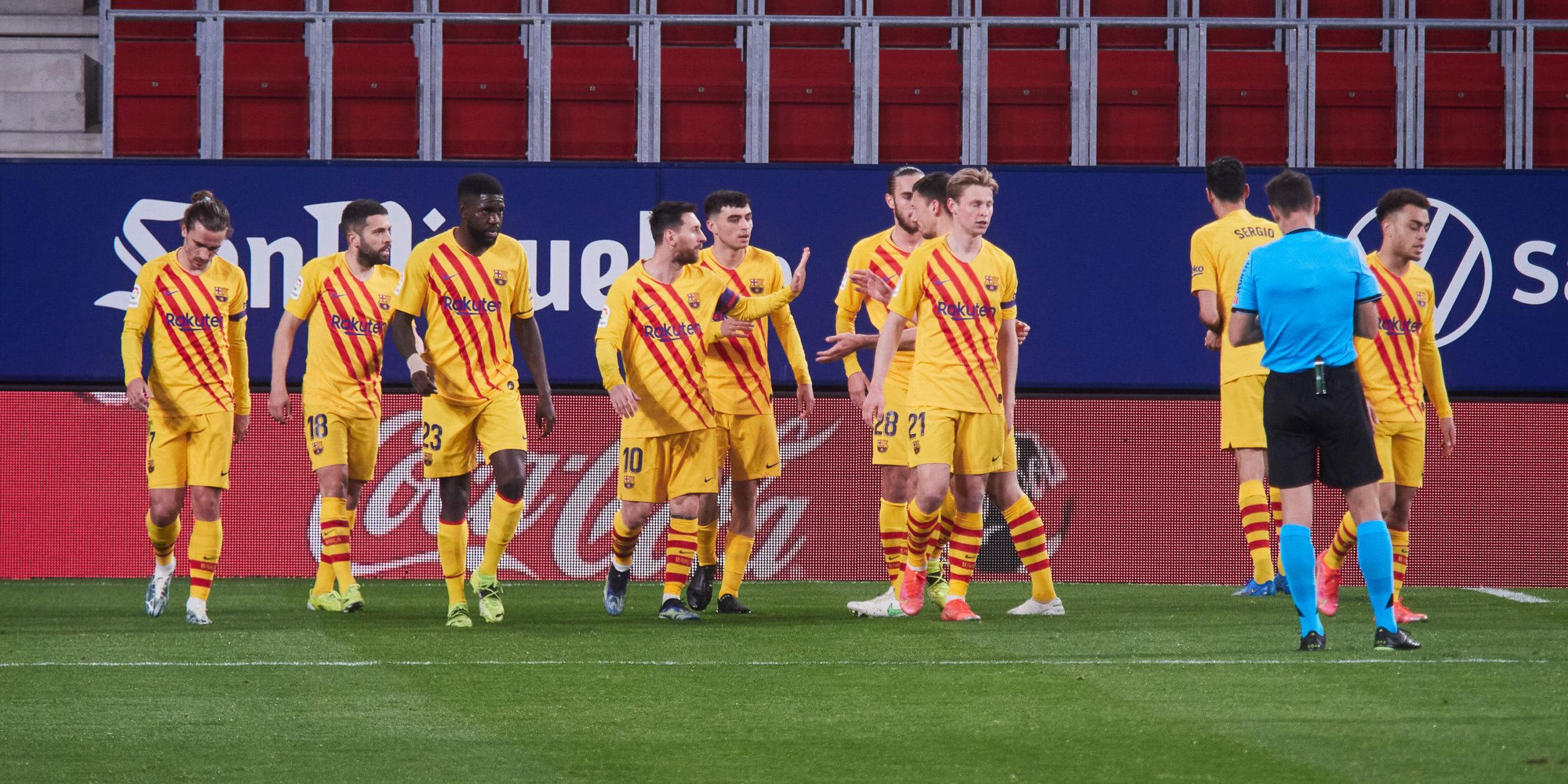 Els jugadors del Barça celebren un gol | Europa Press