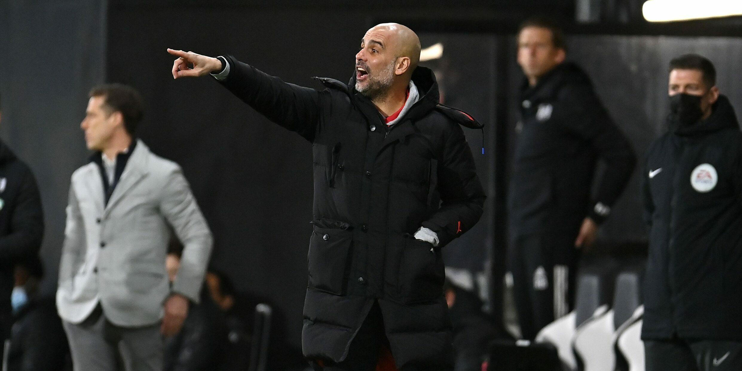 Guardiola durant un partit del City | Europa Press