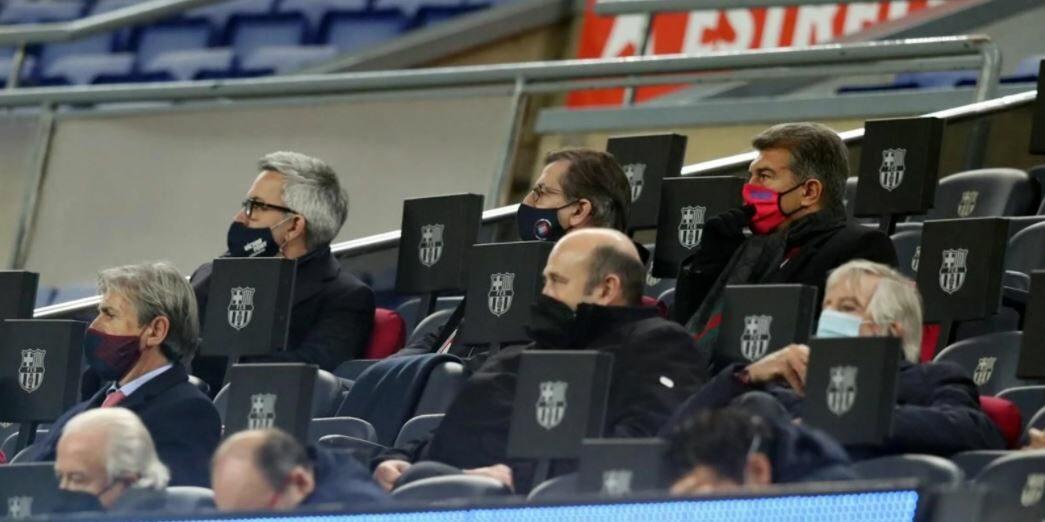 Font, Freixa i Laporta, a la llotja del Camp Nou | FC Barcelona