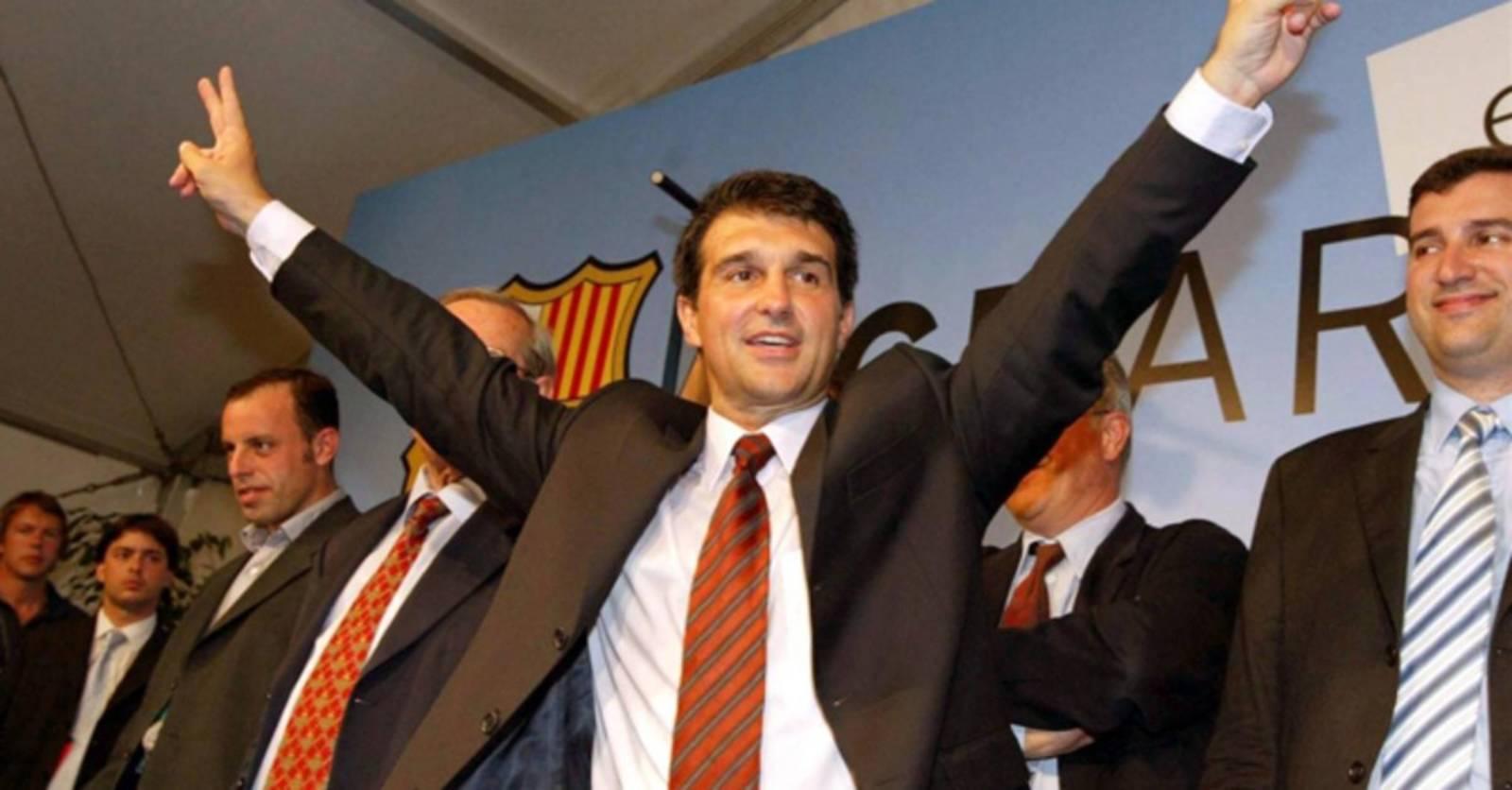 Joan Laporta, escollit president del Barça el 2003 | FC Barcelona