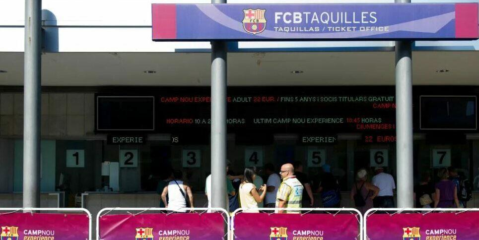 Les taquilles del Camp Nou, en arxiu | FC Barcelona