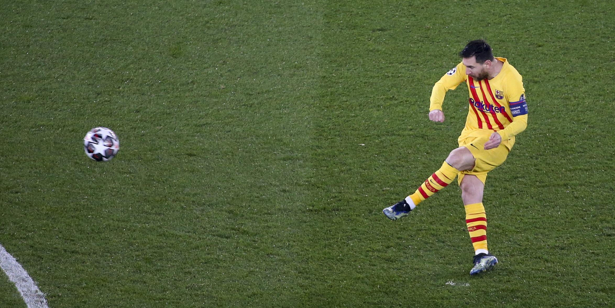 Messi, durant el partit contra el PSG | Europa Press