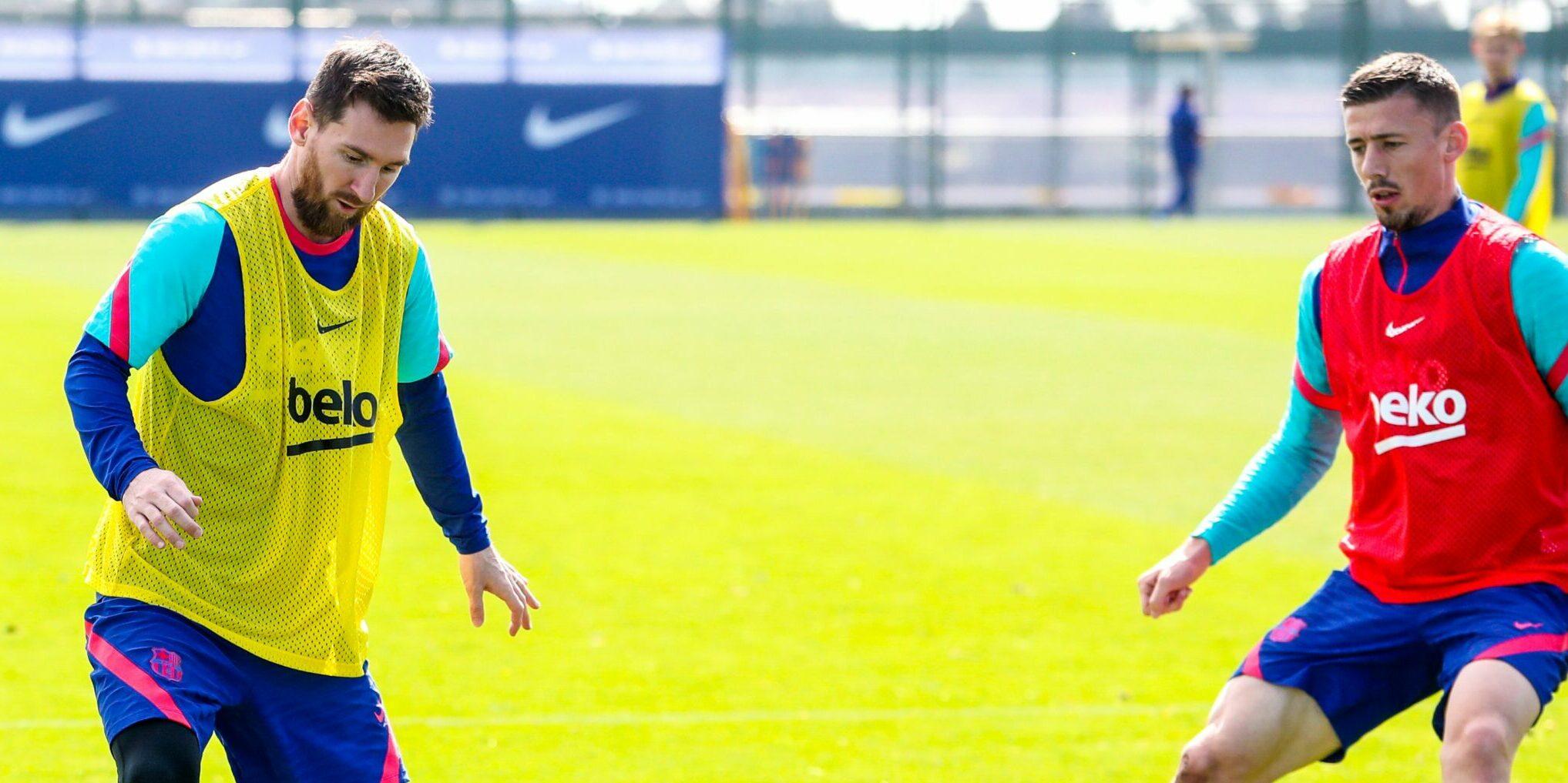 Messi i Lenglet, durant un entrenament | FC Barcelona