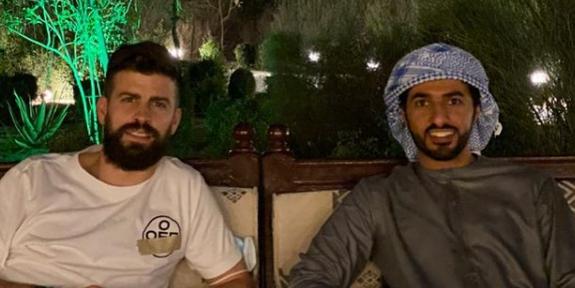 Piqué fent negocis a EAU | Rashid Bin Humaid Al Noaimi