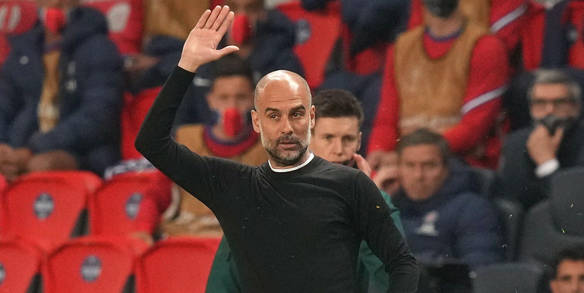 Guardiola, durant un partit contra el PSG   Europa Press