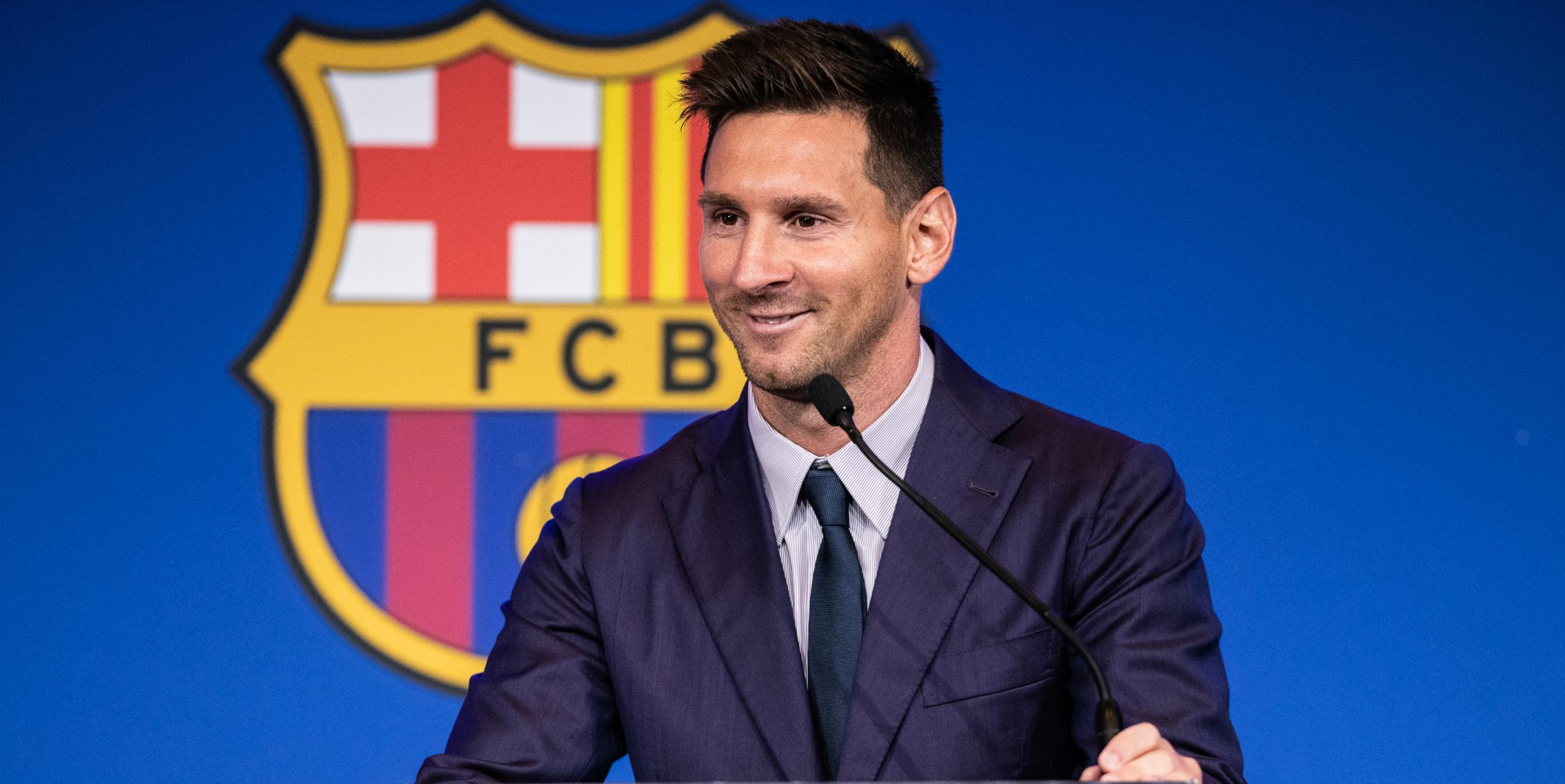 Messi somriu durant el seu comiat amb el Barça | Europa Press
