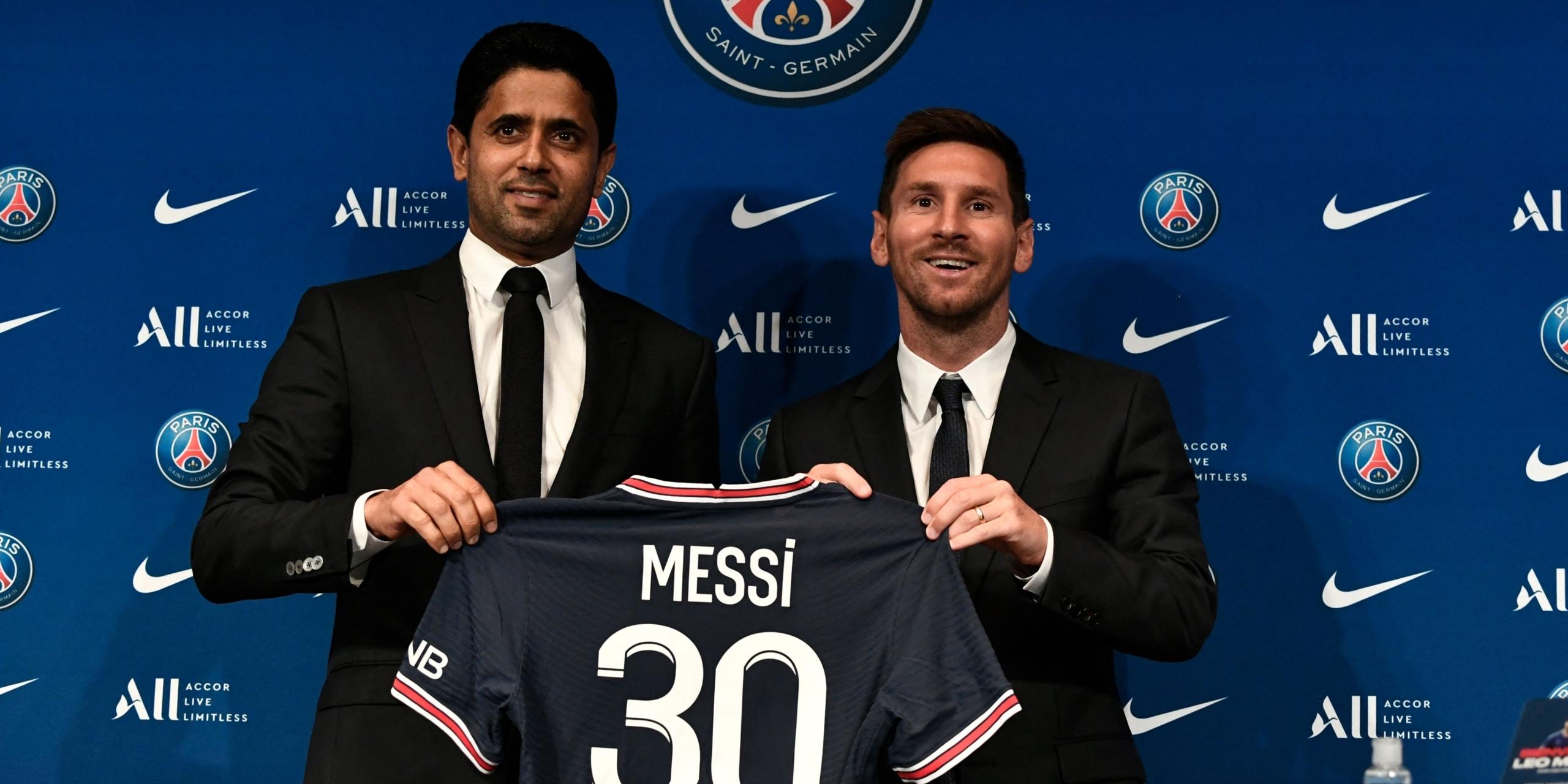 Messi durant la seva presentació amb el PSG   Europa Press