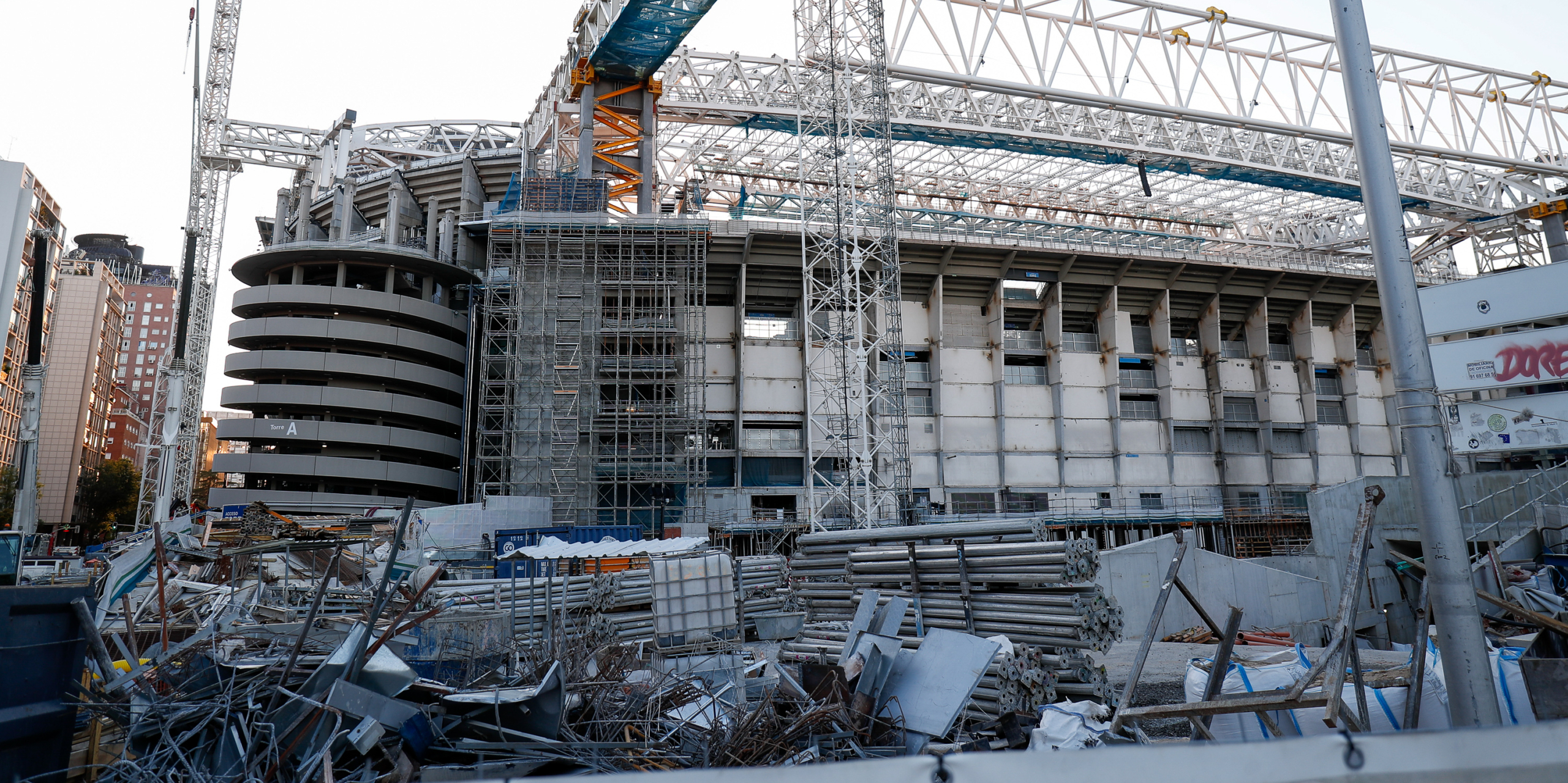 L'estadi Santiago Bernabéu, en obres | Europa Press