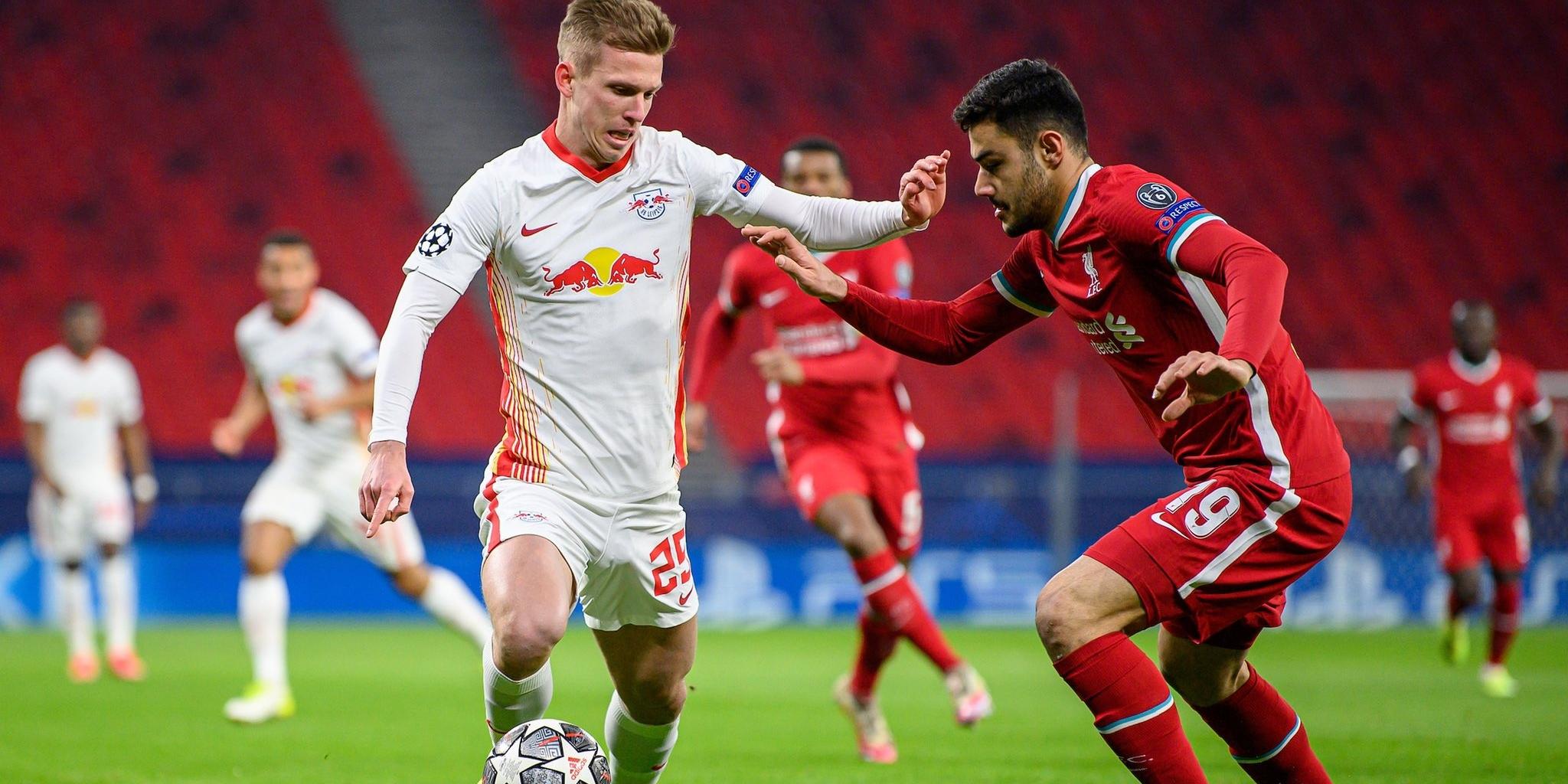 Dani Olmo durant un partit amb el Leipzig | RB Leipzig