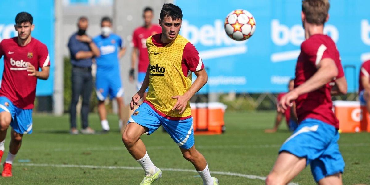 Pedri, durant un entrenament | FC Barcelona