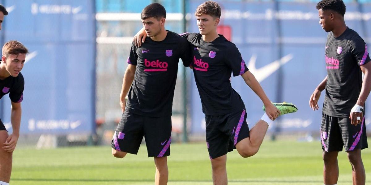 Pedri i Gavi, durant un entrenament | FC Barcelona
